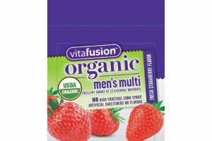 FRESH STRAWBERRY MEN'S MULTI VEGETARIAN GUMMIES DIETARY SUPPLEMENT