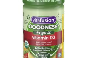 ORGANIC VITAMIN D3 BONE & IMMUNE SUPPORT 50 MCG (2000 IU) DIETARY SUPPLEMENT GUMMIES, CITRUS BERRY