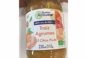 ORGANIC 3 CITRUS FRUITS FRUIT SPREAD