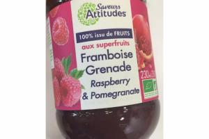 ORGANIC RASPBERRY-POMEGRANATE FRUIT SPREAD