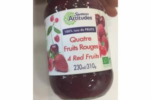 ORGANIC 4 RED FRUITS FRUIT SPREAD