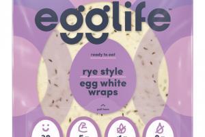 RYE STYLE EGG WHITE WRAPS