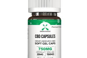 HEMP-DERIVED CBD SOFT GEL CAPSULES 750MG DIETARY SUPPLEMENT CAPSULE COUNT