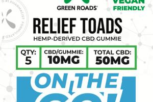 RELIEF TOADS HEMP-DERIVED CBD GUMMIE