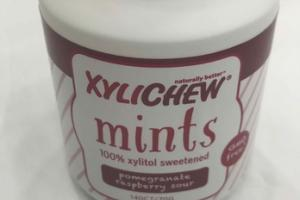 POMEGRANATE RASPBERRY SOUR 100% XYLITOL SWEETENED MINTS