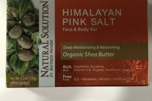 ORGANIC HIMALAYAN PINK SALT FACE & BODY BAR, SHEA BUTTER