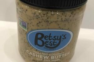 GOURMET TOASTED COCONUT CASHEW BUTTER WITH CHIA SEEDS