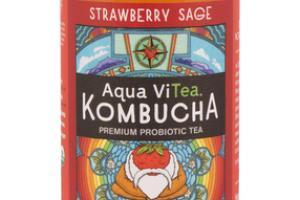 STRAWBERRY SAGE KOMBUCHA PREMIUM PROBIOTIC TEA