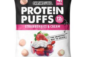STRAWBERRIES & CREAM FLAVORED PROTEIN PUFFS