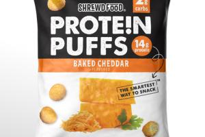 BAKED CHEDDAR FLAVORED PROTEIN PUFFS