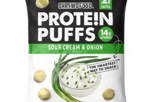 SOUR CREAM & ONION FLAVORED PROTEIN PUFFS