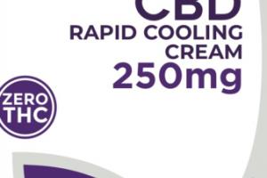 ZERO THC CBD RAPID COOLING CREAM, 250MG