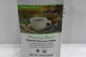 MEDIUM ROAST MORNING BLEND GROUND GOURMET COFFEE