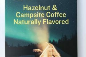 HAZELNUT & CAMPSITE COFFEE NATURALLY FLAVORED DARK CHOCOLATE