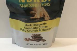 DARK CHOCOLATE CAMPSITE COFFEE, SALTY CRUNCH & HAZELNUT