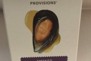 SMOKED MUSSELS IN OLIVE OIL + BROTH