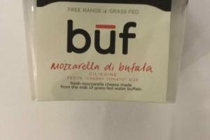 FRESH MOZZARELLA CHEESE MADE FROM THE MILK OF GRASS-FED WATER BUFFALO