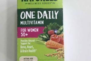 ONE DAILY MULTIVITAMIN FOR WOMEN 50+ SUPPORT BONE, HEART, & BRAIN HEALTH DIETARY SUPPLEMENT VEGAN CAPSULES