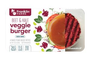 BEET & KALE BAKED PLANT-BASED VEGGIE BURGER PATTIES