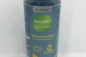 BOTANICAL ACNE RELIEF LINER HERBAL SUPPLEMENT TABLETS