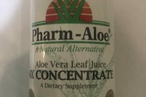 ALOE VERA LEAF JUICE 4X CONCENTRATE A DIETARY SUPPLEMENT