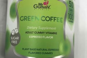 GREEN COFFEE ADULT GUMMY VITAMINS DIETARY SUPPLEMENT GUMMIES, ESPRESSO
