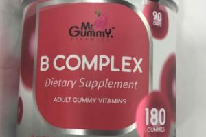 B COMPLEX ADULT GUMMY VITAMINS DIETARY SUPPLEMENT, STRAWBERRY