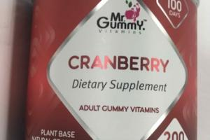 CRANBERRY PLANT BASED NATURAL FLAVORED DIETARY SUPPLEMENT GUMMIES
