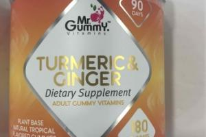TURMERIC & GINGER ADULT GUMMY VITAMINS DIETARY SUPPLEMENT
