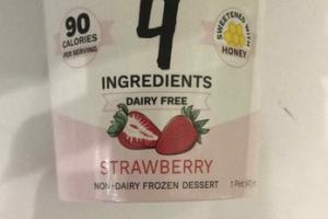 STRAWBERRY NON-DAIRY FROZEN DESSERT