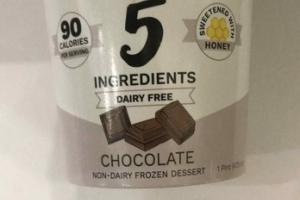 CHOCOLATE NON-DAIRY FROZEN DESSERT