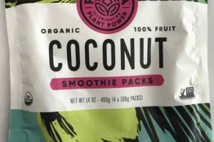 COCONUT ORGANIC 100% FRUIT SMOOTHIE PACKS