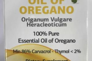 100% PURE ESSENTIAL OIL OF OREGANO FOOD SUPPLEMENT