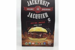 ORGANIC SPICY BBQ BIOLOGIQUE JACKFRUIT JACQUIER SHREDS