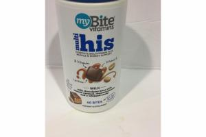 MULTI HIS COMPLETE MULTIVITAMIN PLUS MUSCLE & ENERGY SUPPORT MILK BITES DIETARY SUPPLEMENT
