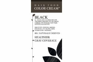 HAIR FOOD COLOR CREAM, BLACK