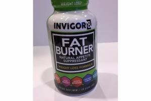 FAT BURNER NATURAL APPETITE SUPPRESSANT WEIGHT LOSS FORMULA DIETARY SUPPLEMENT VEGGIE CAPS