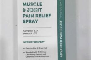 MUSCLE & JOINT PAIN RELIEF MEDICATED SPRAY