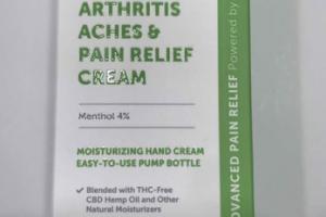 ARTHRITIS ACHES & PAIN RELIEF CREAM