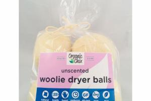 WOOLIE DRYER BALLS, UNSCENTED
