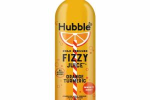 ORANGE TURMERIC SPARKLING COLD PRESSED FIZZY JUICE