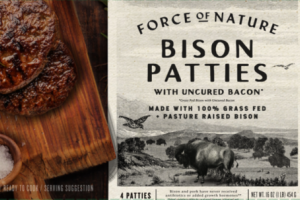 BISON PATTIES WITH UNCURED BACON