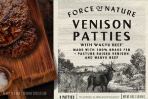 VENISON PATTIES WITH WAGYU BEEF