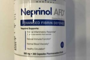 ADVANCED FIBRIN DEFENSE DIETARY SUPPLEMENT CAPSULES, 500 MG