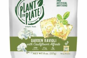GARDEN RAVIOLI WITH CAULIFLOWER ALFREDO