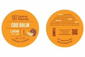 CEDAR CITRUS CBD BALM 1,200 MG OF CBD
