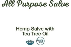 ALL PURPOSE HEMP SALVE WITH TEA TREE OIL