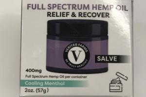 SALVE FULL SPECTRUM HEMP OIL RELIEF & RECOVER, COOLING MENTHOL