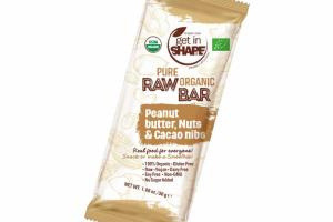 PEANUT BUTTER, NUTS & CACAO NIBS PURE RAW ORGANIC BAR