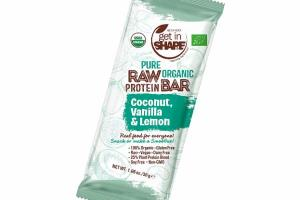 COCONUT, VANILLA & LEMON PURE RAW ORGANIC PROTEIN BAR